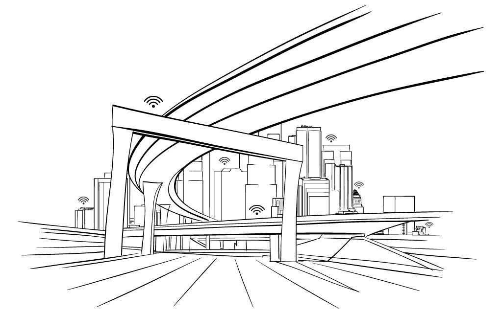 Edificios, viaductos y otras estructuras conectados a la nube mediante Corrochip