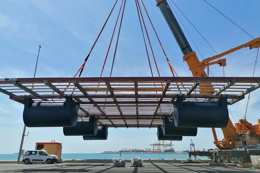 RDC. Batea Formex® construida por Preffor, puerto de Valencia. Proyecto ReSHEALience, piloto 3.