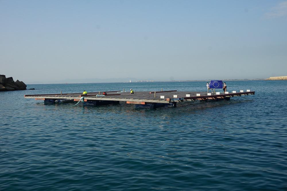 RDC. Batea Formex® construida por Preffor, puerto de Valencia. Proyecto ReSHEALience, piloto 3 (TRL7).